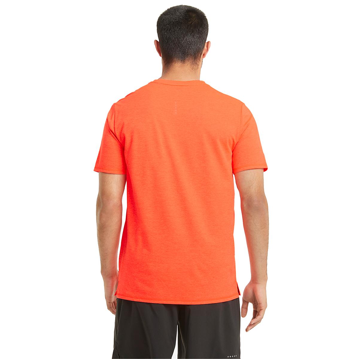 Men's Puma Favorite Heather Short Sleeve Running Tee - Color: Lava Blast - Size: S, Lava Blast, large, image 2