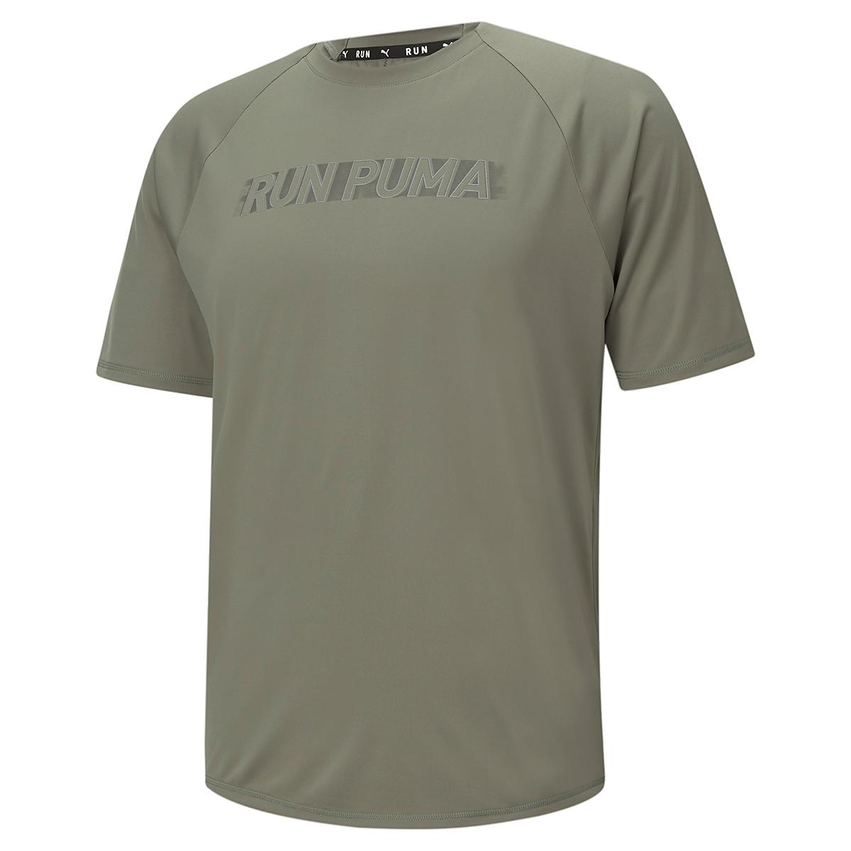 Men's Puma Run Lite COOLadapt Short Sleeve Tee - Color: Vetiver - Size: XXS, Vetiver, large, image 2