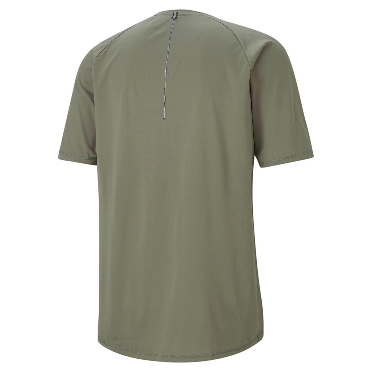 Men's Puma Run Lite COOLadapt Short Sleeve Tee - Color: Vetiver - Size: XXS, Vetiver, large, image 3