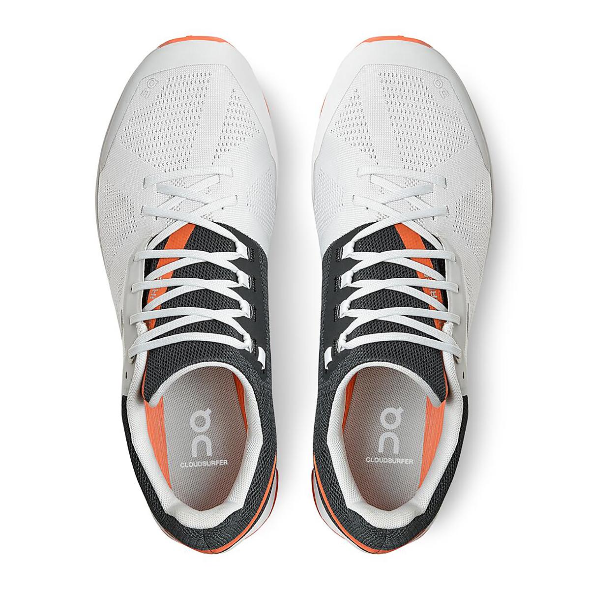 Men's On Cloudsurfer Running Shoe - Color: Frost/Flame - Size: 7 - Width: Regular, Frost/Flame, large, image 3