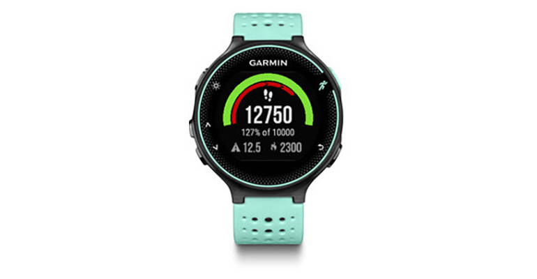 Garmin Forerunner 235 Wrist HRM - Color: Frost Blue/Black - Size: One Size, Blue/Black, large, image 1