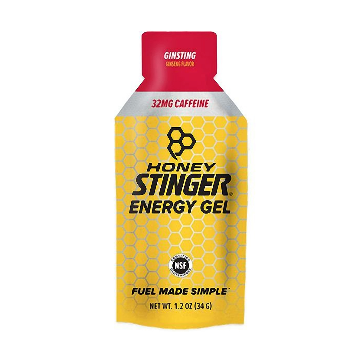 Honey Stinger Energy Gel - Flavor: Ginsting + Caffeine - Size: Box of 24, Caffeinated Ginsting, large, image 1