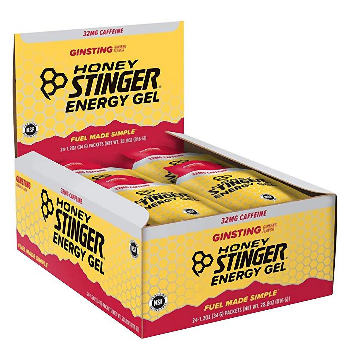 Honey Stinger Energy Gel - Flavor: Ginsting + Caffeine - Size: Box of 24, Caffeinated Ginsting, large, image 2