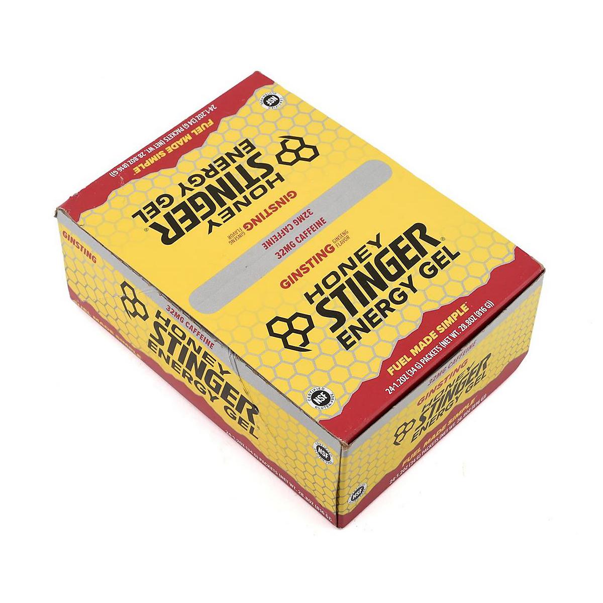 Honey Stinger Energy Gel - Flavor: Ginsting + Caffeine - Size: Box of 24, Caffeinated Ginsting, large, image 3