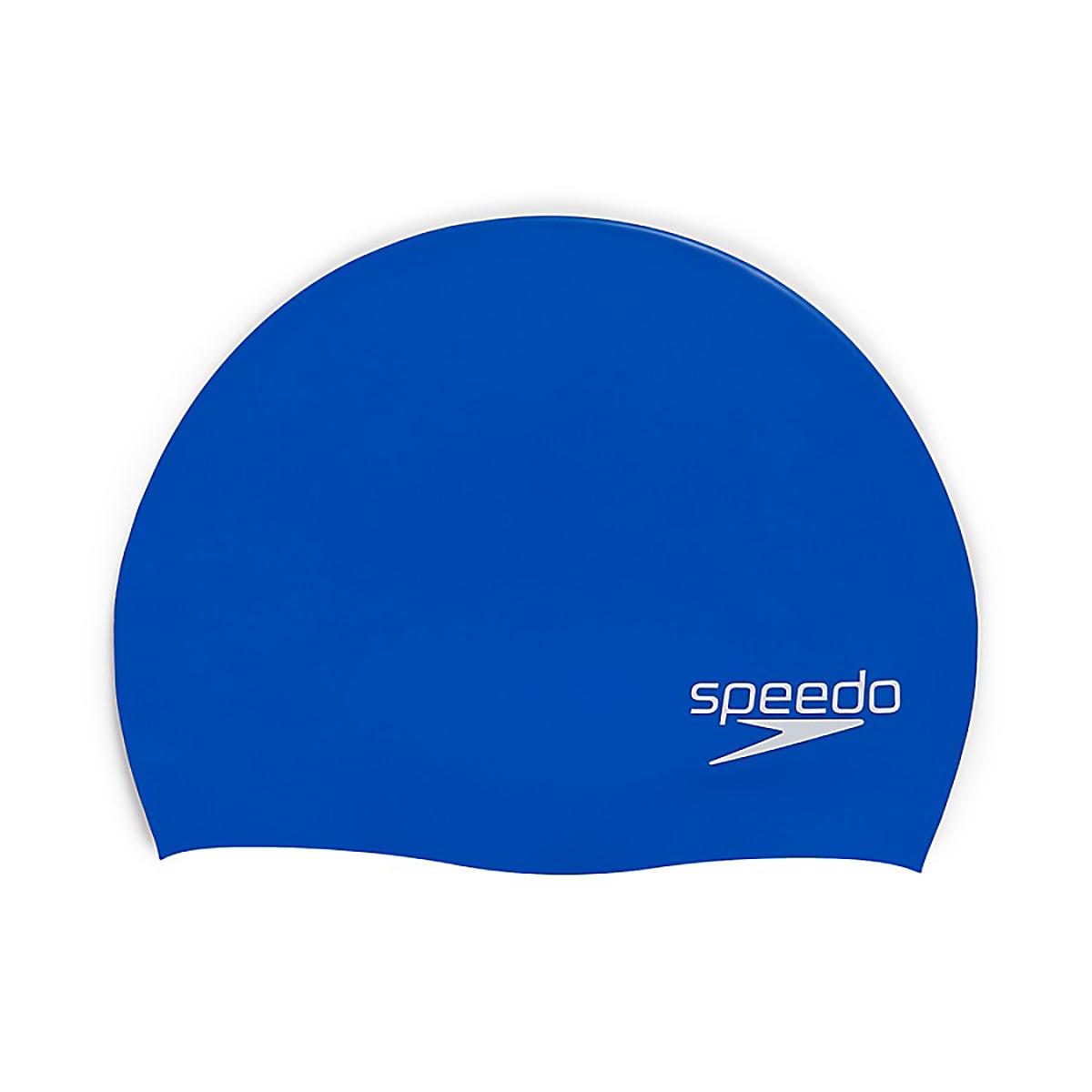 Speedo Elastomeric Solid Silicone Swim Cap - Color: Blue, Blue, large, image 1