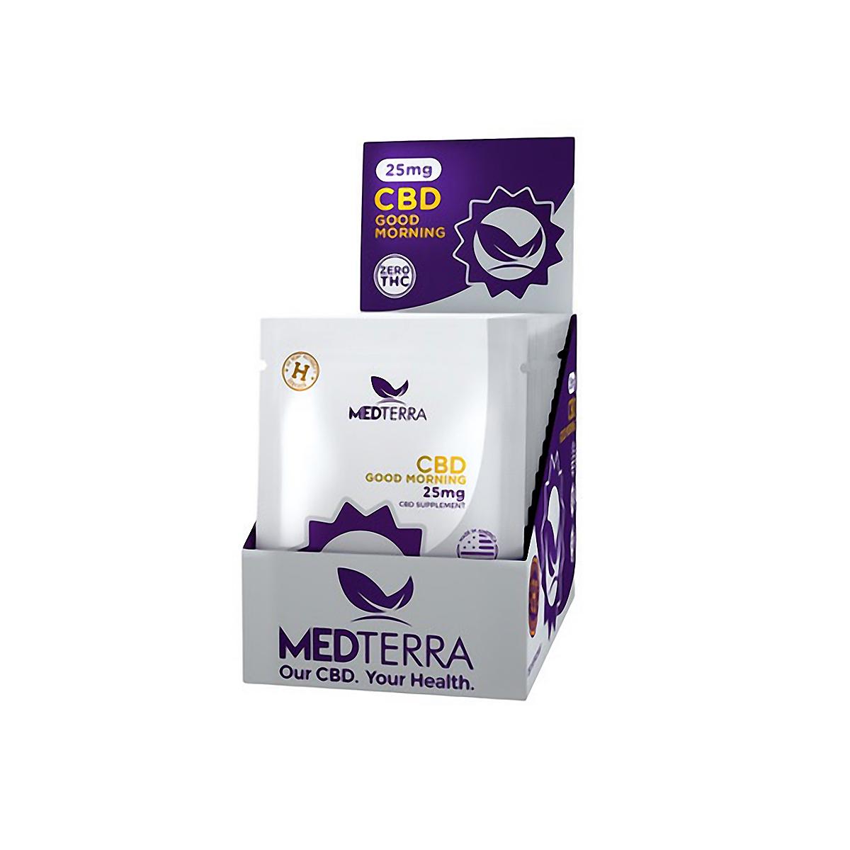 Unisex Medterra CBD Good Morning Capsules 25mg - Color: Box of 20 Size: OS, Box Of 20, large, image 1