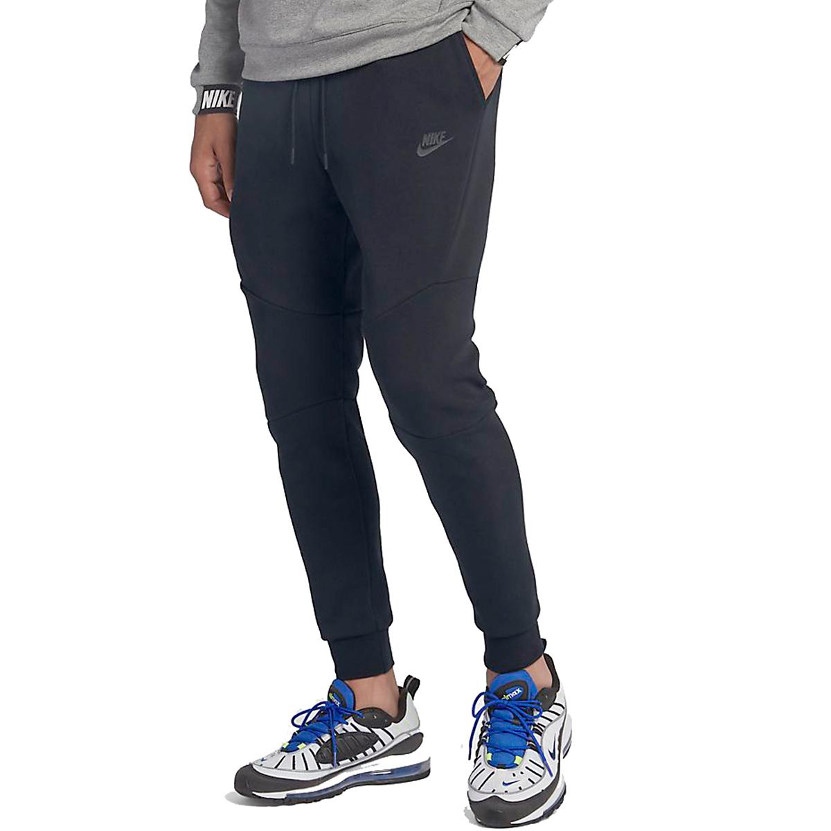 Men's Nike Tech Fleece Jogger - Color: Black - Size: L, Black, large, image 1