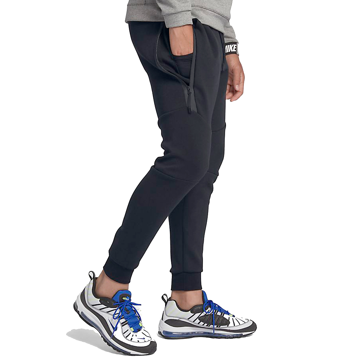 Men's Nike Tech Fleece Jogger - Color: Black - Size: L, Black, large, image 2