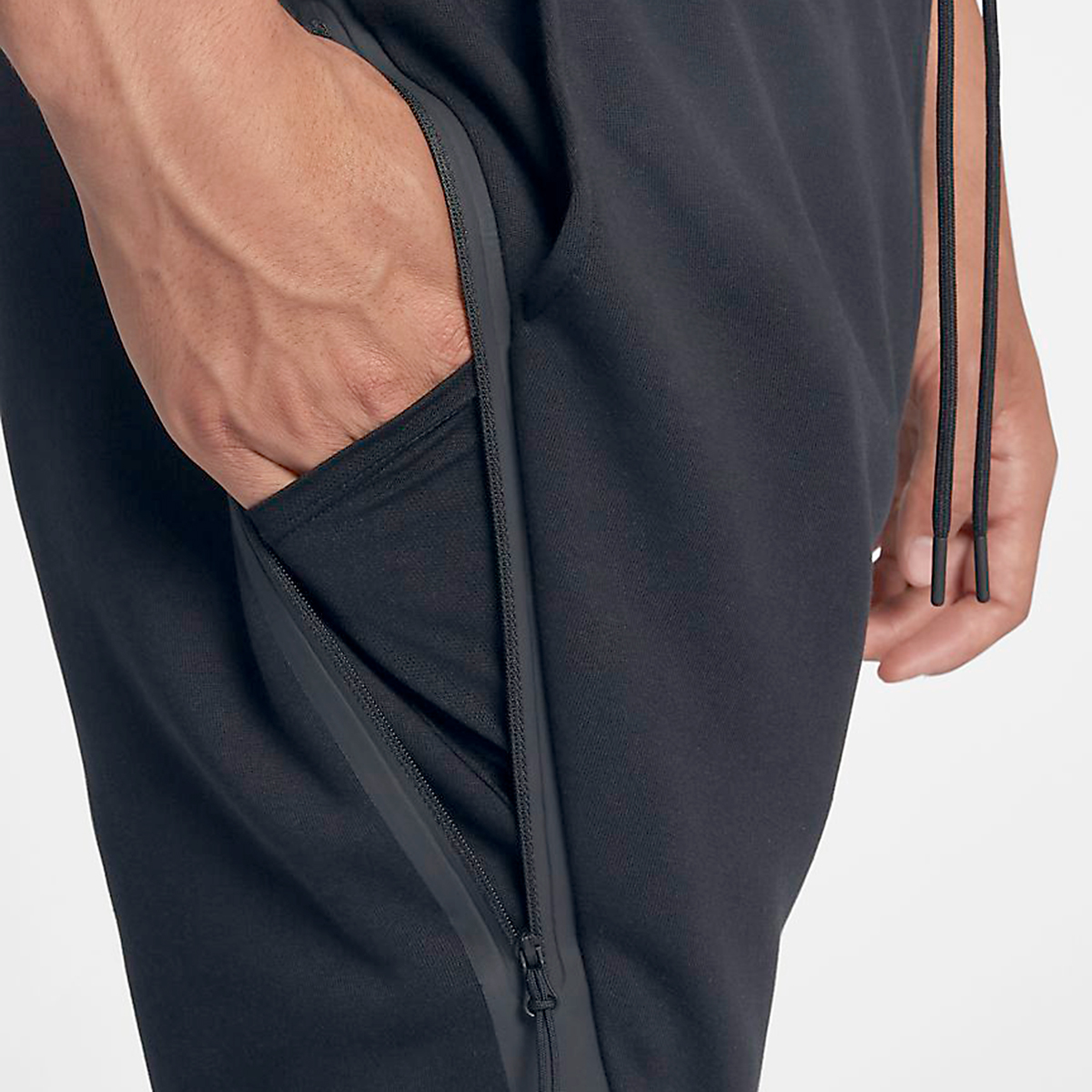 Men's Nike Tech Fleece Jogger - Color: Black - Size: L, Black, large, image 3