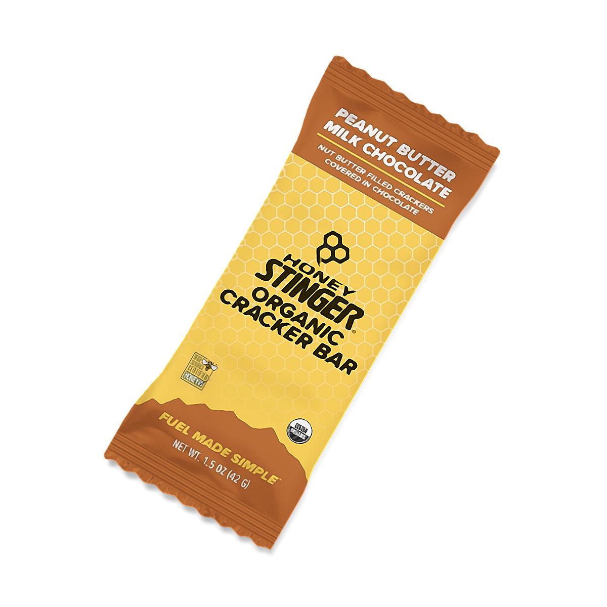 Honey Stinger Organic Cracker Bar - Flavor: Peanut Butter Milk Chocolate - Size: Box of 12, Peanut Butter Milk Chocolate, large, image 1