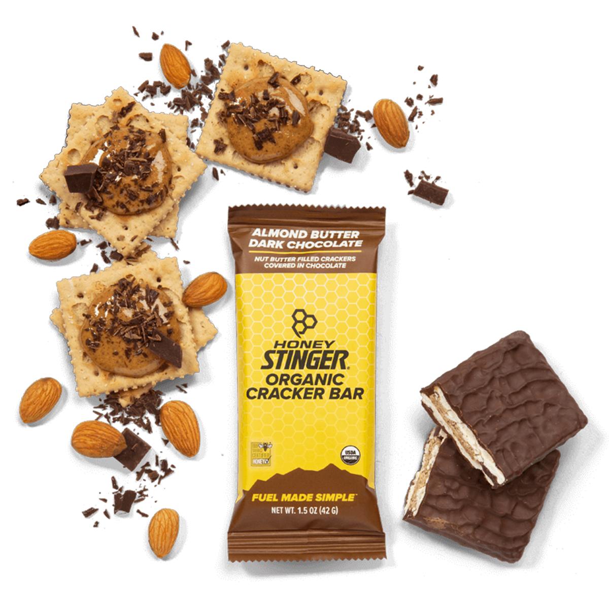 Honey Stinger Organic Cracker Bar - Flavor: Almond Butter Dark Chocolate - Size: Box of 12, Almond Butter Dark Chocolate, large, image 2