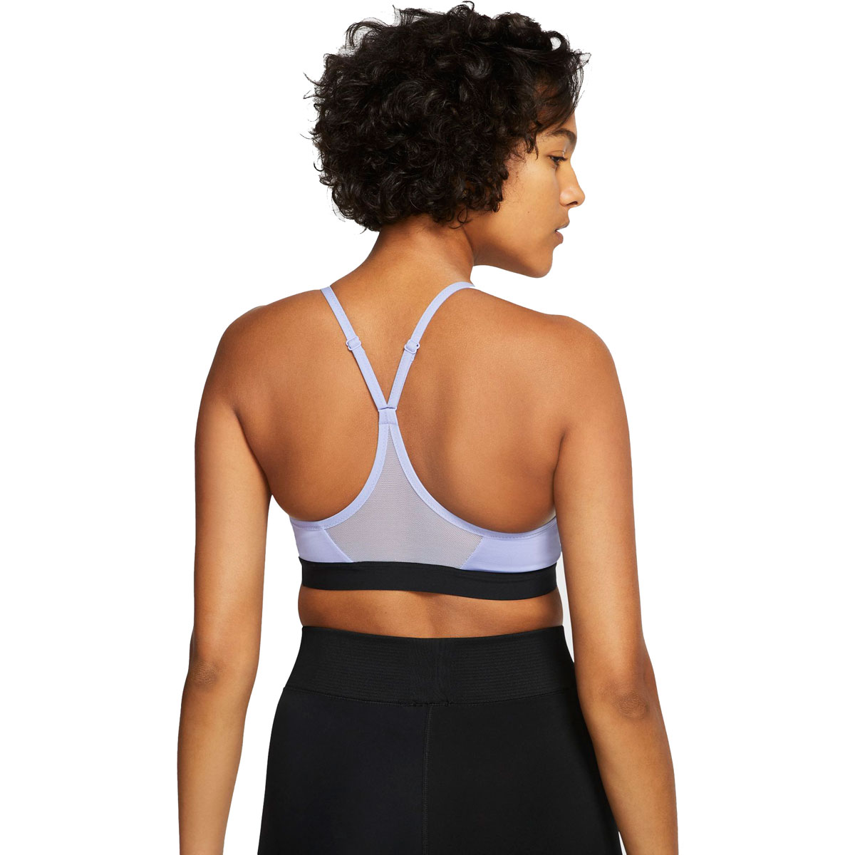Women's Nike Indy Sports Bra - Color: Light Thistle/Black/Black - Size: XS, Light Thistle/Black/Black, large, image 2