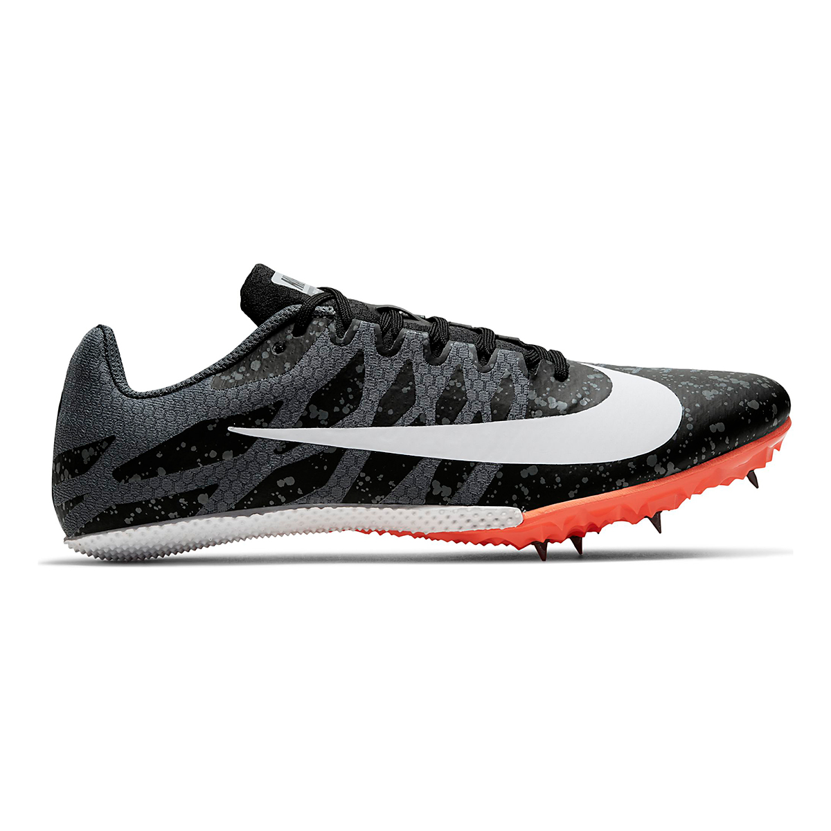 Men's Nike Zoom Rival S 9 Track Spikes - Color: Black/White/Orange - Size: 4 - Width: Regular, Black/White/Orange, large, image 1