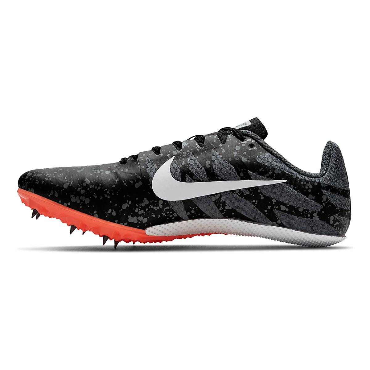 Men's Nike Zoom Rival S 9 Track Spikes - Color: Black/White/Orange - Size: 4 - Width: Regular, Black/White/Orange, large, image 2