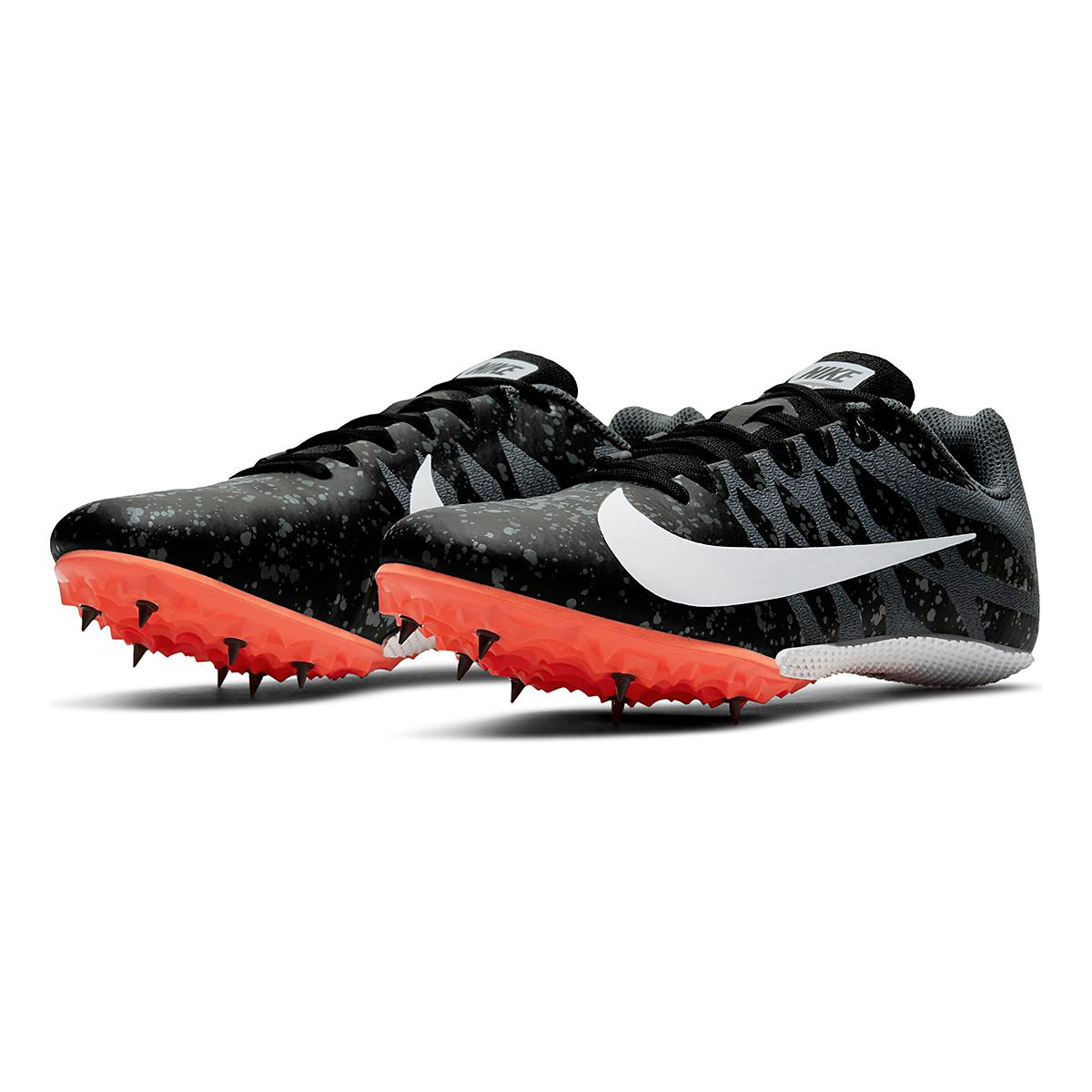 Men's Nike Zoom Rival S 9 Track Spikes - Color: Black/White/Orange - Size: 4 - Width: Regular, Black/White/Orange, large, image 4