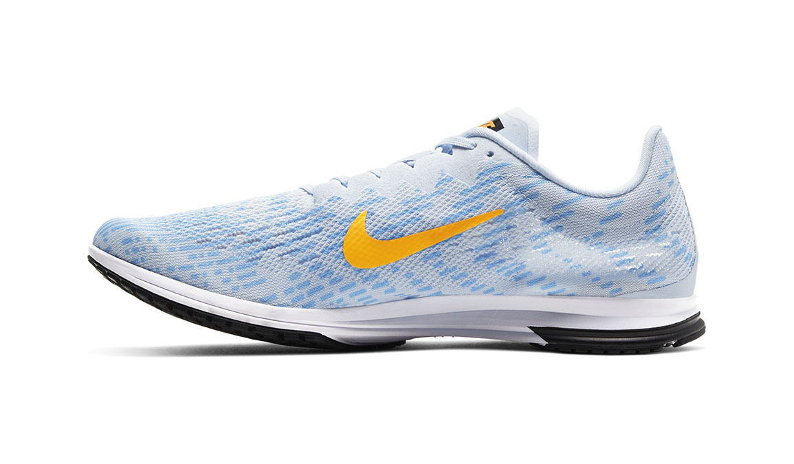 Unisex Nike Air Zoom Streak LT 4 - Color: Hydrogen Blue/Laser Orange (Regular Width) - Size: 4.5, Hydrogen Blue/Laser Orange, large, image 2