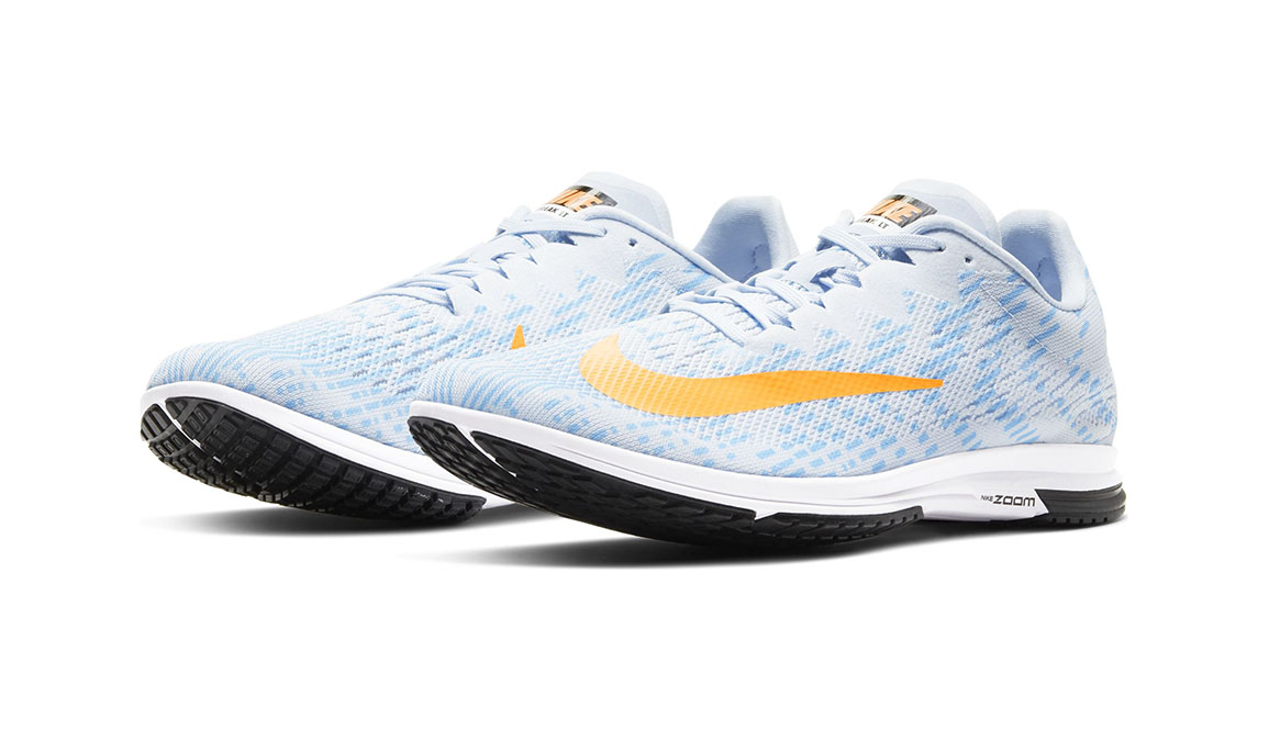 Unisex Nike Air Zoom Streak LT 4 - Color: Hydrogen Blue/Laser Orange (Regular Width) - Size: 4.5, Hydrogen Blue/Laser Orange, large, image 3