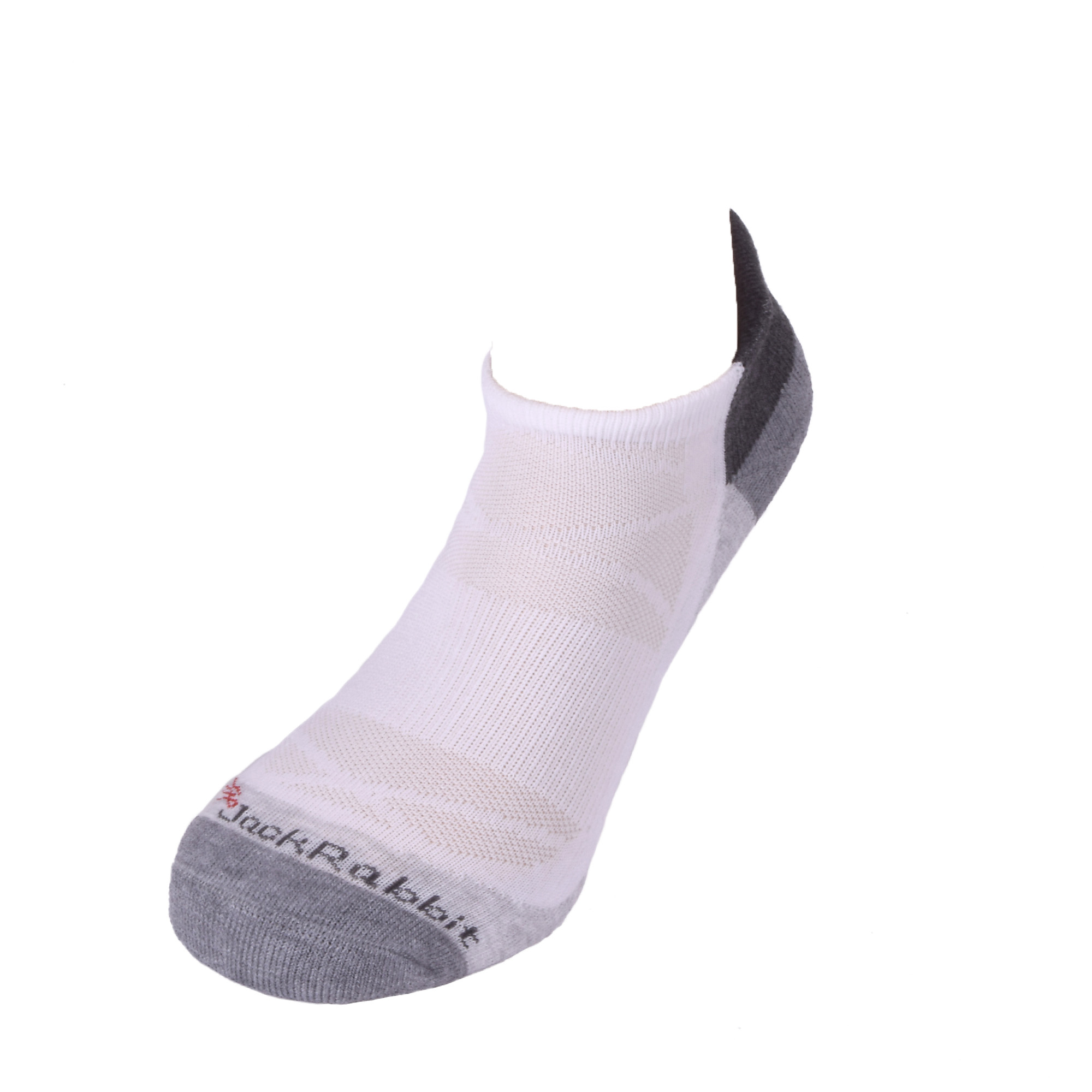 JackRabbit No Show Tab Cushion Performance Running Sock, , large, image 2