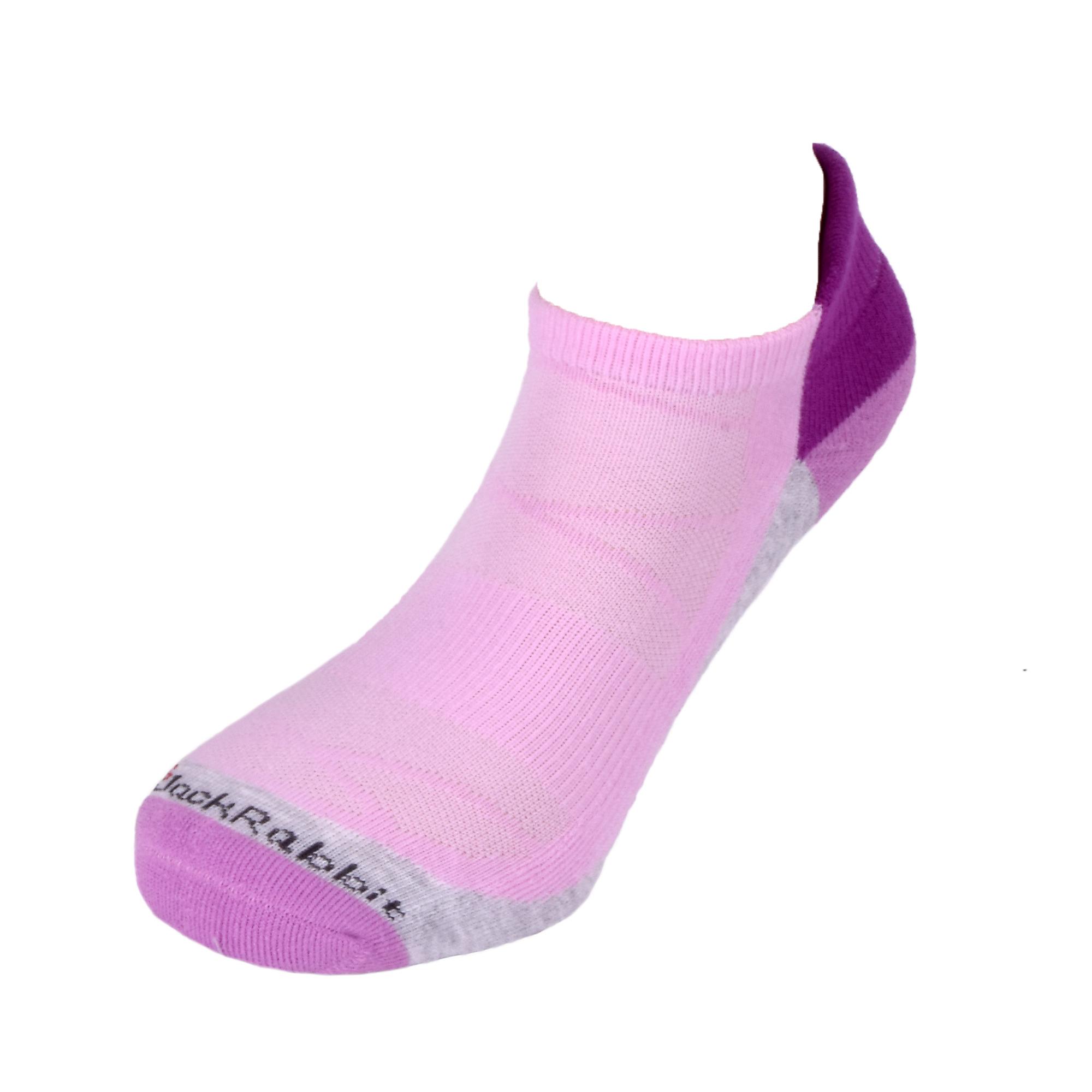 JackRabbit No Show Tab Cushion Performance Running Sock - Color: Violet - Size: S, Violet, large, image 2