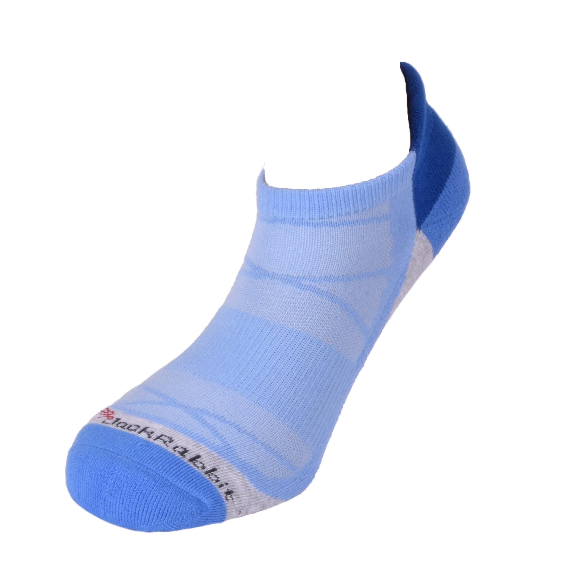 JackRabbit No Show Tab Cushion Performance Running Sock - Color: Blue - Size: S, Blue, large, image 2