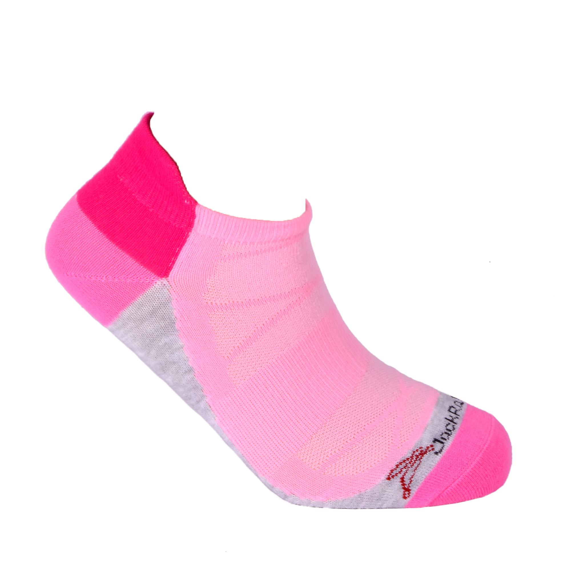 JackRabbit No Show Tab Lite Performance Running Sock - Color: Pink - Size: S, Pink, large, image 3