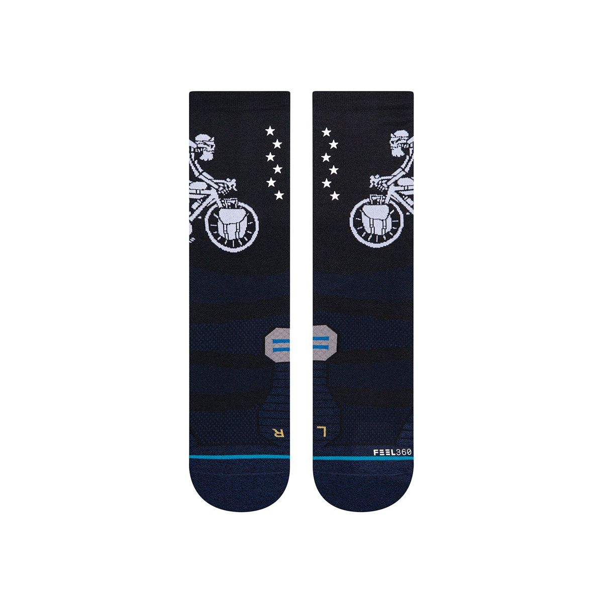Stance Anton Vagabond Crew Socks - Color: Black - Size: S, Black, large, image 2