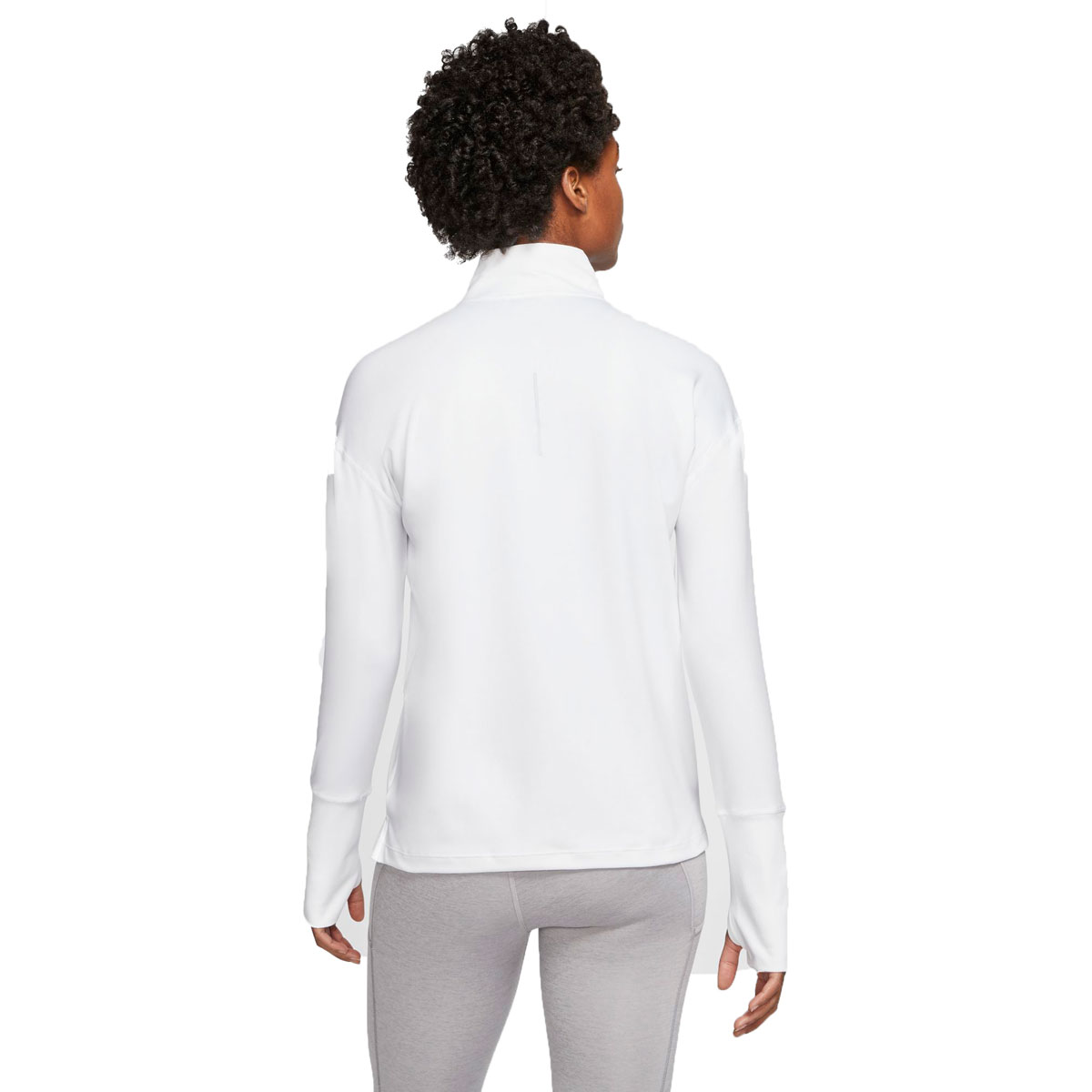 Women's Nike Element 1/2-Zip Running Top - Color: White/Reflective Silver - Size: S, White/Reflective Silver, large, image 2