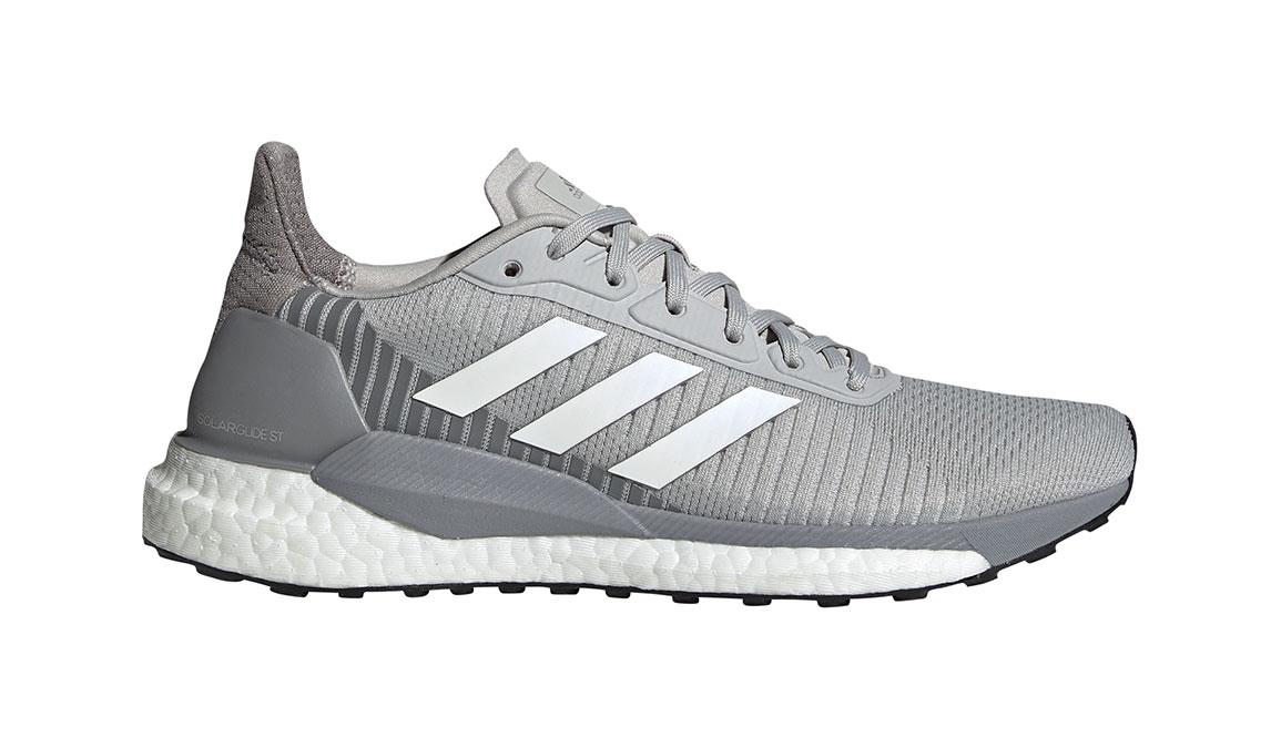 Women's Adidas SolarGlide ST 19 Running Shoe - Color: Grey/White/Solar Orange (Regular Width) - Size: 5.5, Grey/White, large, image 1