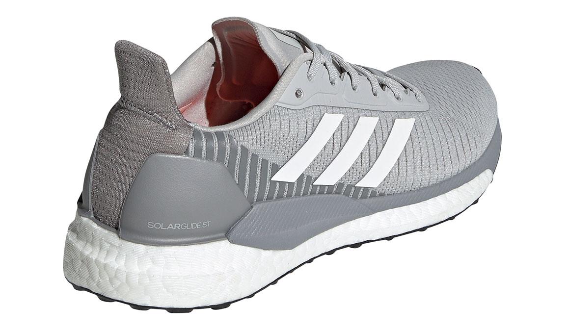 Women's Adidas SolarGlide ST 19 Running Shoe - Color: Grey/White/Solar Orange (Regular Width) - Size: 5.5, Grey/White, large, image 2