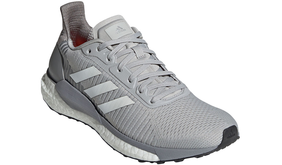 Women's Adidas SolarGlide ST 19 Running Shoe - Color: Grey/White/Solar Orange (Regular Width) - Size: 5.5, Grey/White, large, image 4