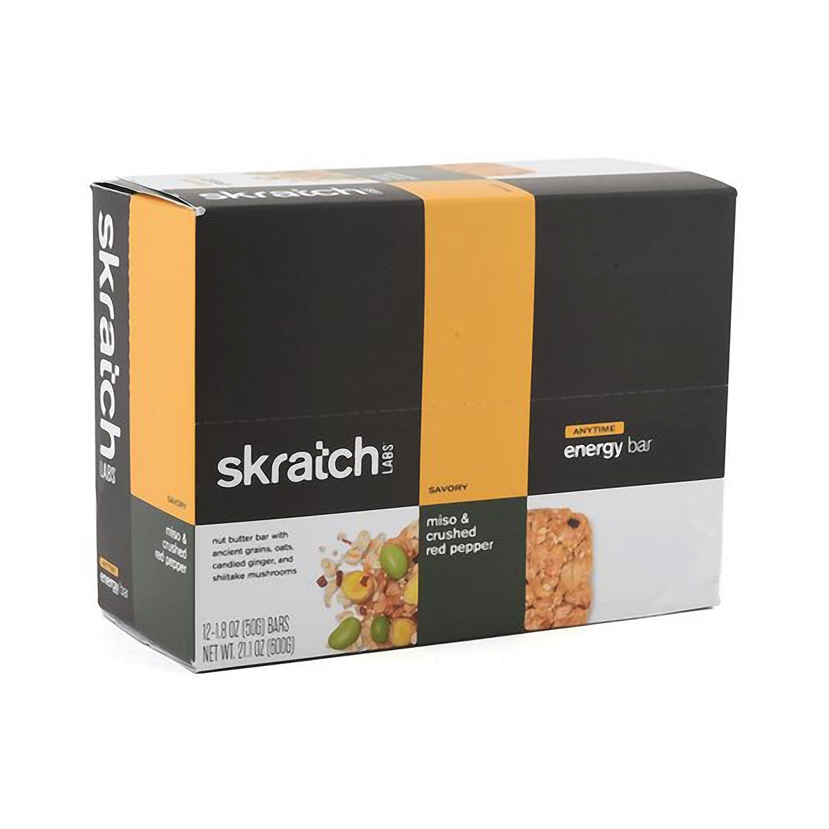 Skratch Labs Anytime Energy Bar - Flavor: Ginger Miso - Size: Box of 12, Ginger Miso, large, image 1