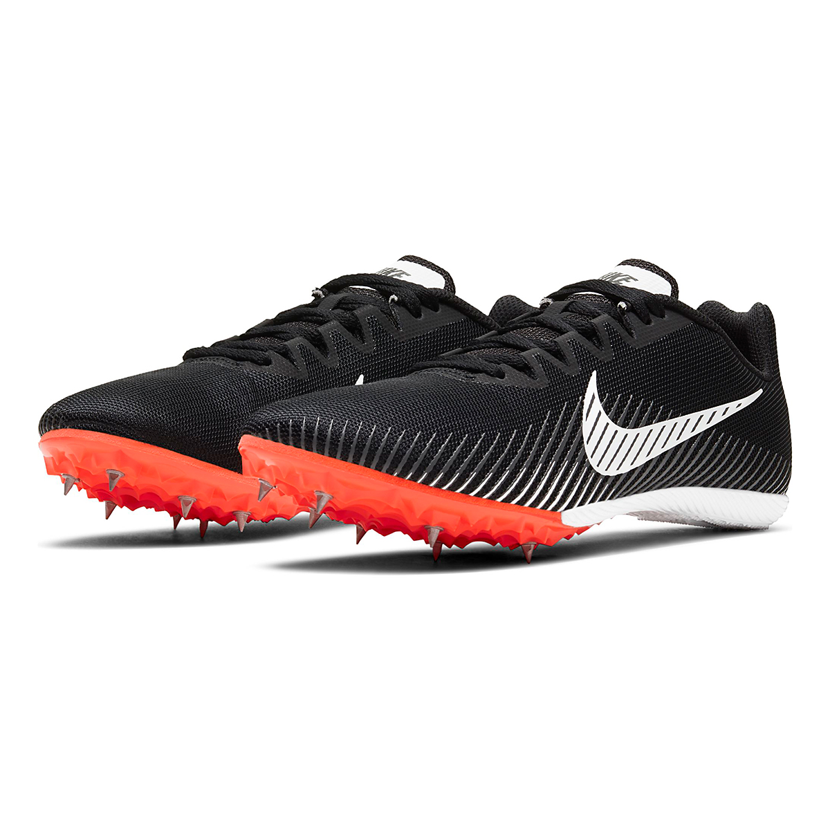 Nike Zoom Rival M 9 Track Spikes - Color: Black/White/Iron Grey/Hyper Crimson - Size: M4/W5.5 - Width: Regular, Black/White/Iron Grey/Hyper Crimson, large, image 5
