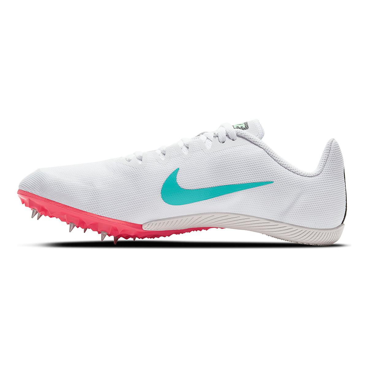 Nike Zoom Rival M 9 Track Spikes - Color: White/Flash Crimson/Hyper Jade/Black - Size: M4/W5.5 - Width: Regular, White/Flash Crimson/Hyper Jade/Black, large, image 2