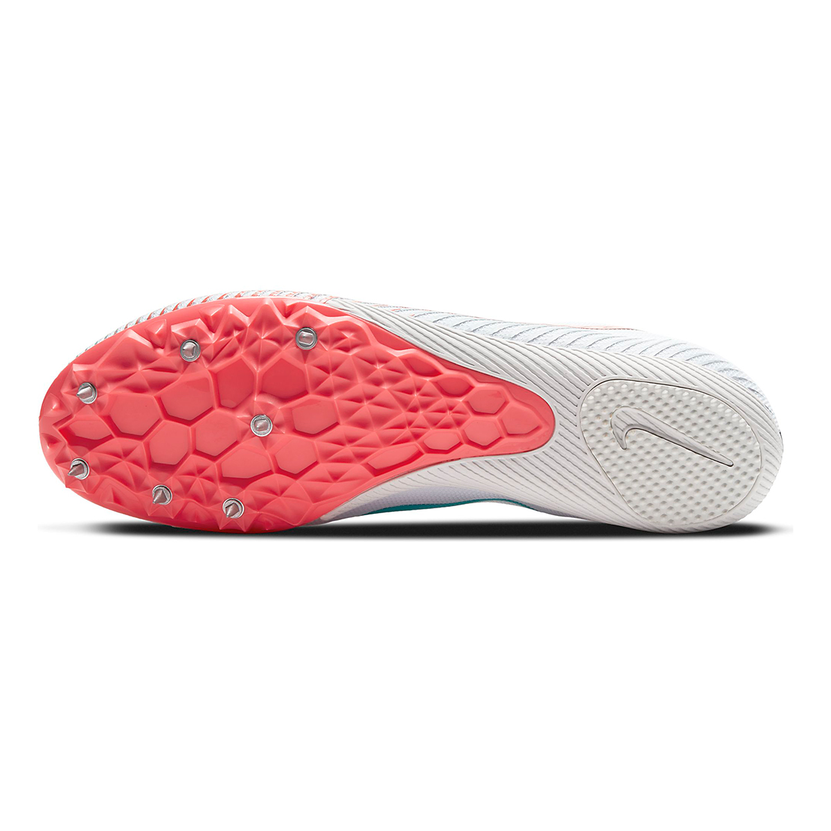 Nike Zoom Rival M 9 Track Spikes - Color: White/Flash Crimson/Hyper Jade/Black - Size: M4/W5.5 - Width: Regular, White/Flash Crimson/Hyper Jade/Black, large, image 3