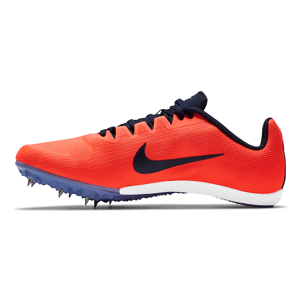 Women's Nike Zoom Rival M 9 Track Spikes - Color: Bright Mango/Blackend Blue - Size: 4 - Width: Regular, Bright Mango/Blackend Blue, large, image 2