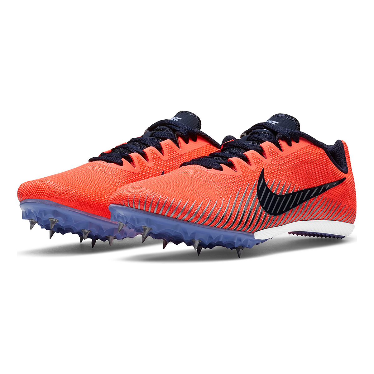 Women's Nike Zoom Rival M 9 Track Spikes - Color: Bright Mango/Blackend Blue - Size: 4 - Width: Regular, Bright Mango/Blackend Blue, large, image 3