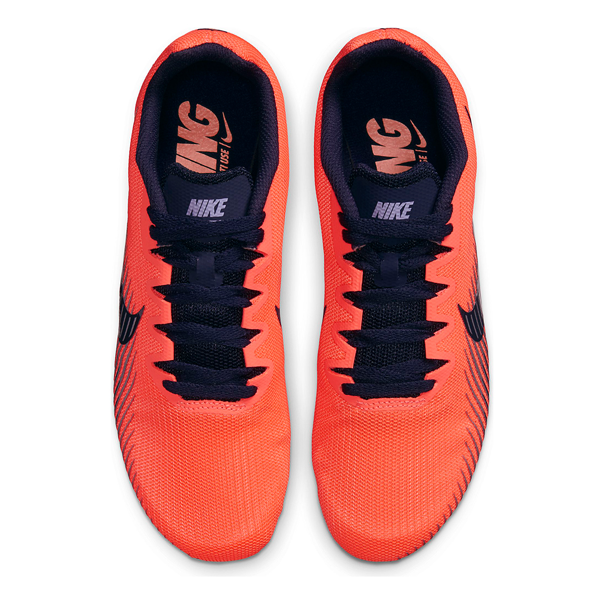 Women's Nike Zoom Rival M 9 Track Spikes - Color: Bright Mango/Blackend Blue - Size: 4 - Width: Regular, Bright Mango/Blackend Blue, large, image 4