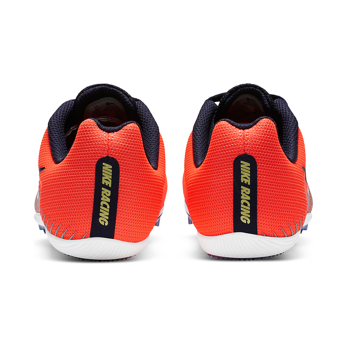 Women's Nike Zoom Rival M 9 Track Spikes - Color: Bright Mango/Blackend Blue - Size: 4 - Width: Regular, Bright Mango/Blackend Blue, large, image 5