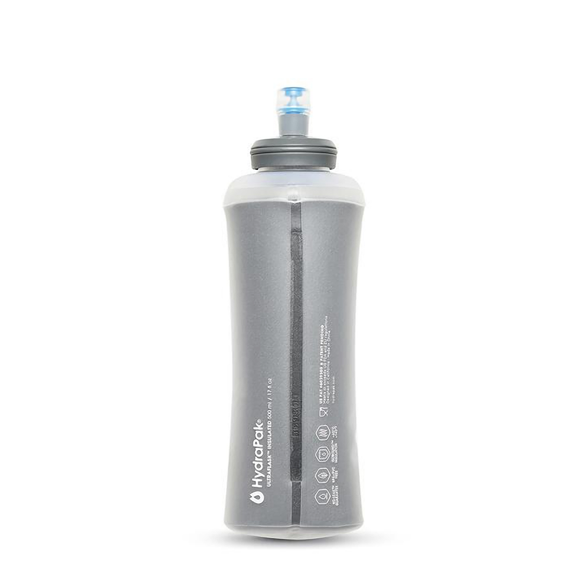 Hydrapak UltraFlask IT 500 mL Insulated Water Bottle - Color: Grey - Size: One Size, Grey, large, image 3