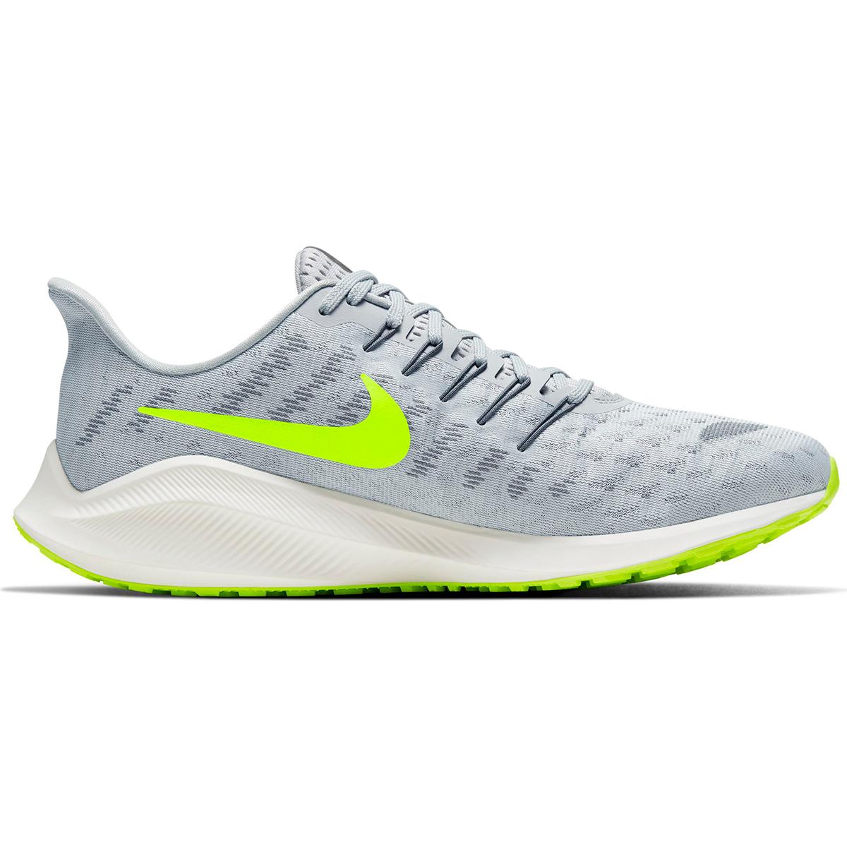 Men's Nike Air Zoom Vomero 14 Running Shoe - Color: Grey Fog/Smoke Grey/Volt/Sail (Regular Width) - Size: 6, Grey Fog/Smoke Grey/Volt/Sail, large, image 1