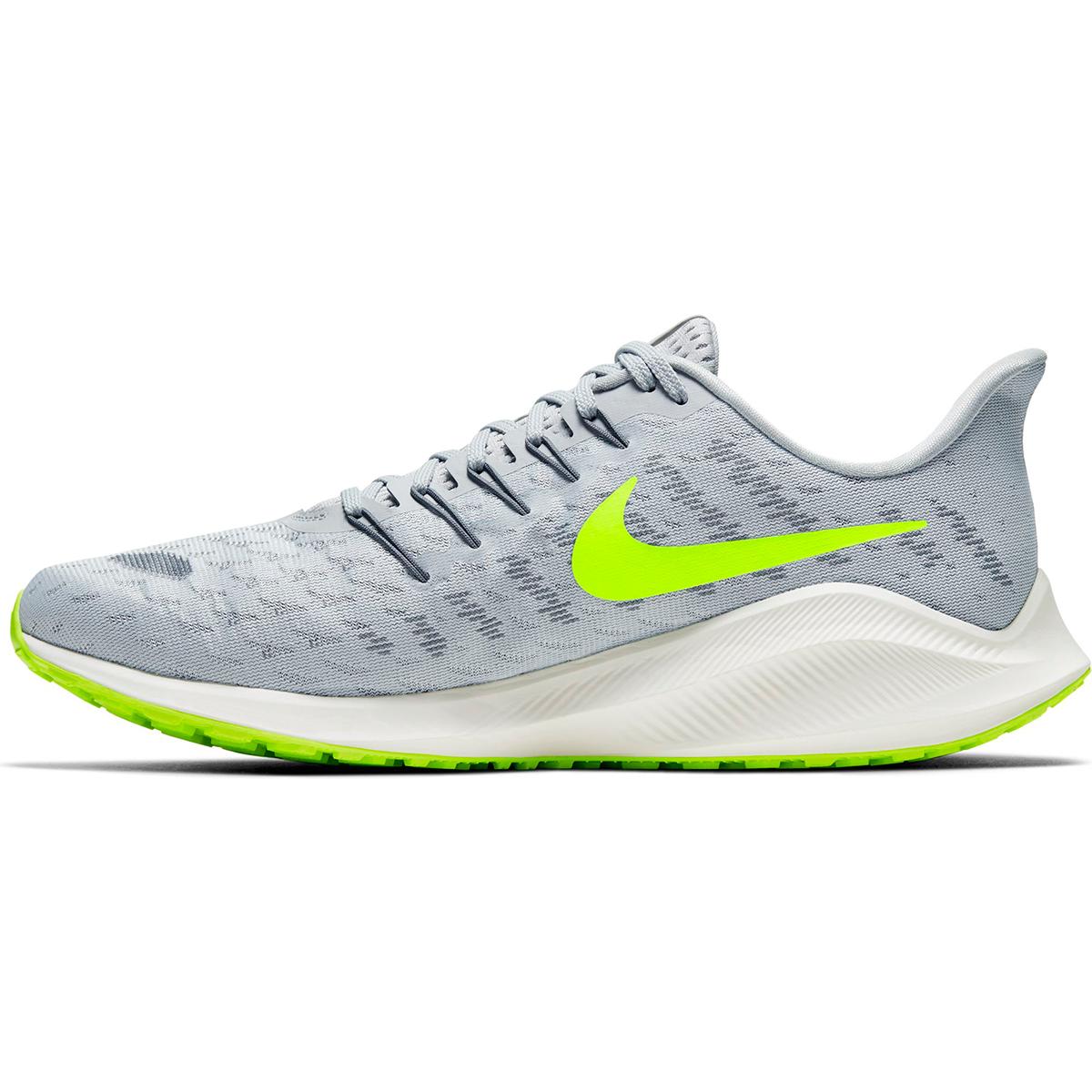 Men's Nike Air Zoom Vomero 14 Running Shoe - Color: Grey Fog/Smoke Grey/Volt/Sail (Regular Width) - Size: 6, Grey Fog/Smoke Grey/Volt/Sail, large, image 2