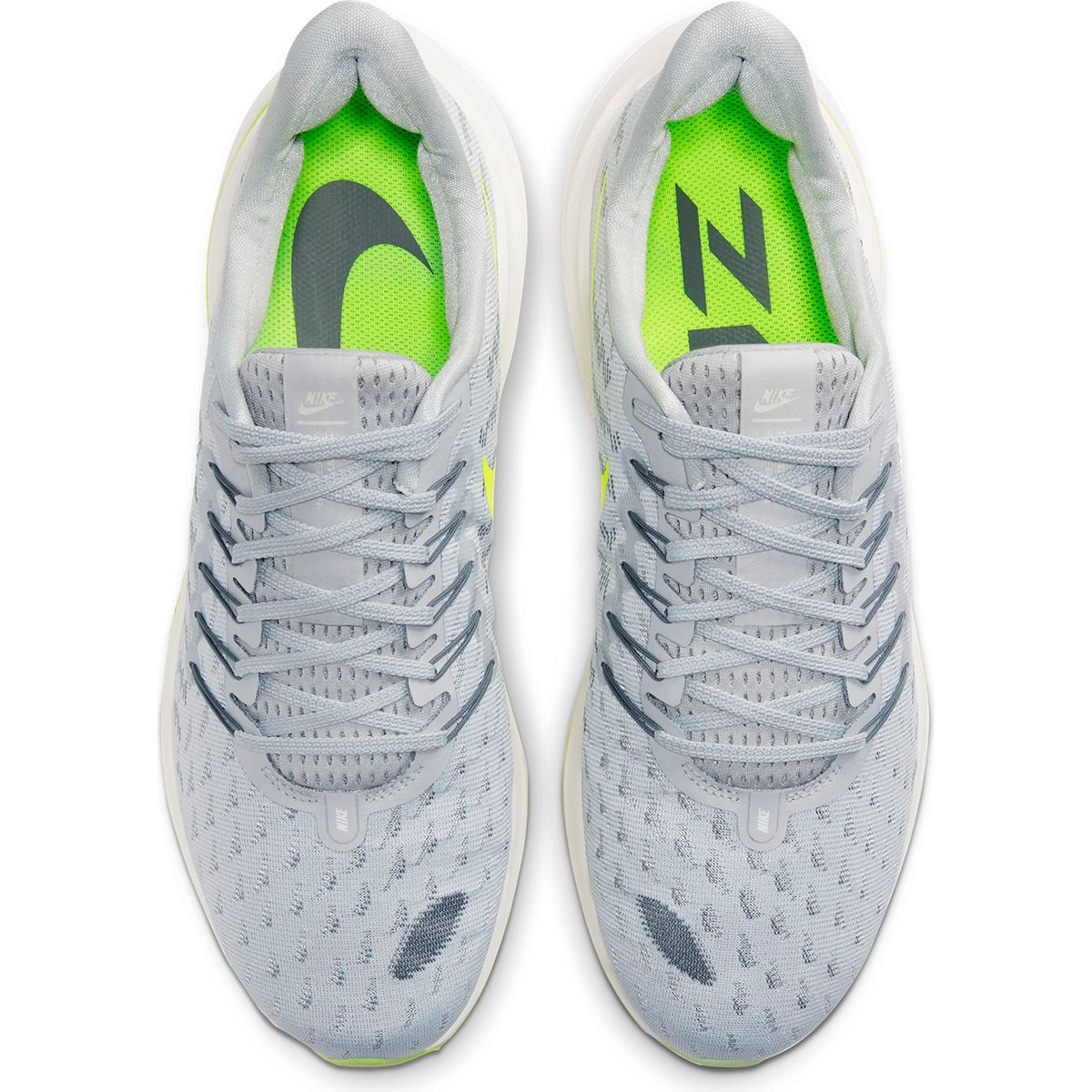 Men's Nike Air Zoom Vomero 14 Running Shoe - Color: Grey Fog/Smoke Grey/Volt/Sail (Regular Width) - Size: 6, Grey Fog/Smoke Grey/Volt/Sail, large, image 3