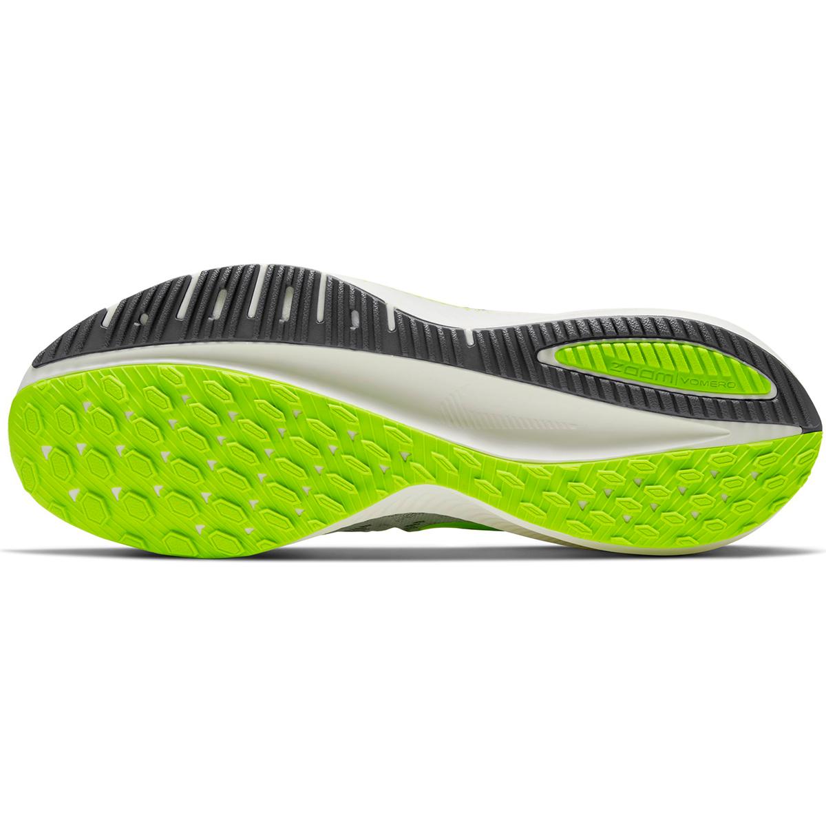 Men's Nike Air Zoom Vomero 14 Running Shoe - Color: Grey Fog/Smoke Grey/Volt/Sail (Regular Width) - Size: 6, Grey Fog/Smoke Grey/Volt/Sail, large, image 4