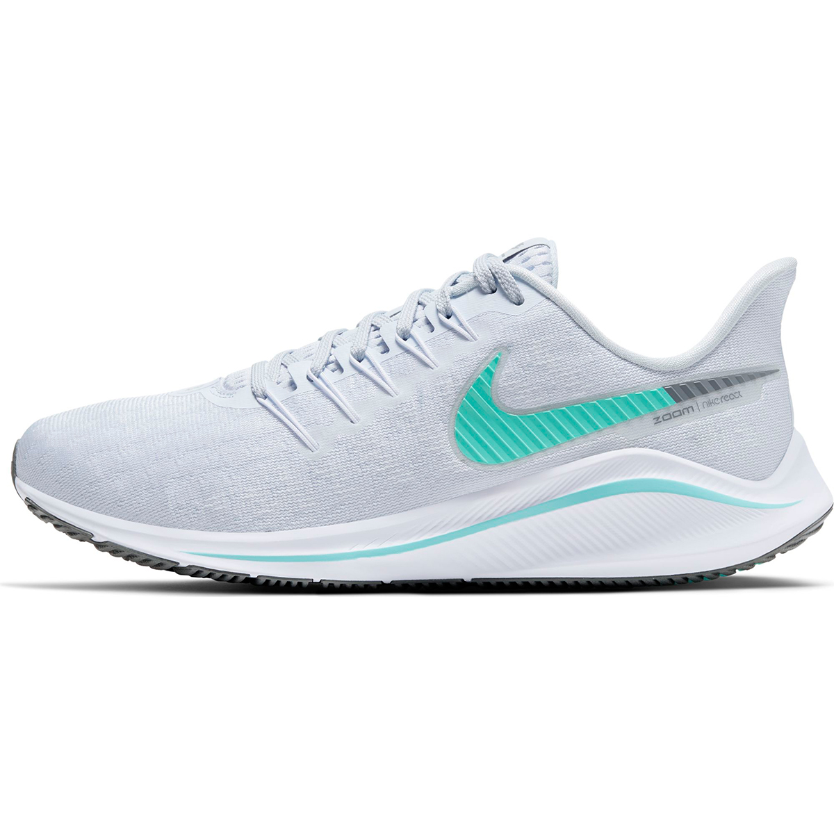 Women's Nike Air Zoom Vomero 14 Running Shoe - Color: Football Grey/White/Cool (Regular Width) - Size: 5, Football Grey/White/Cool, large, image 2