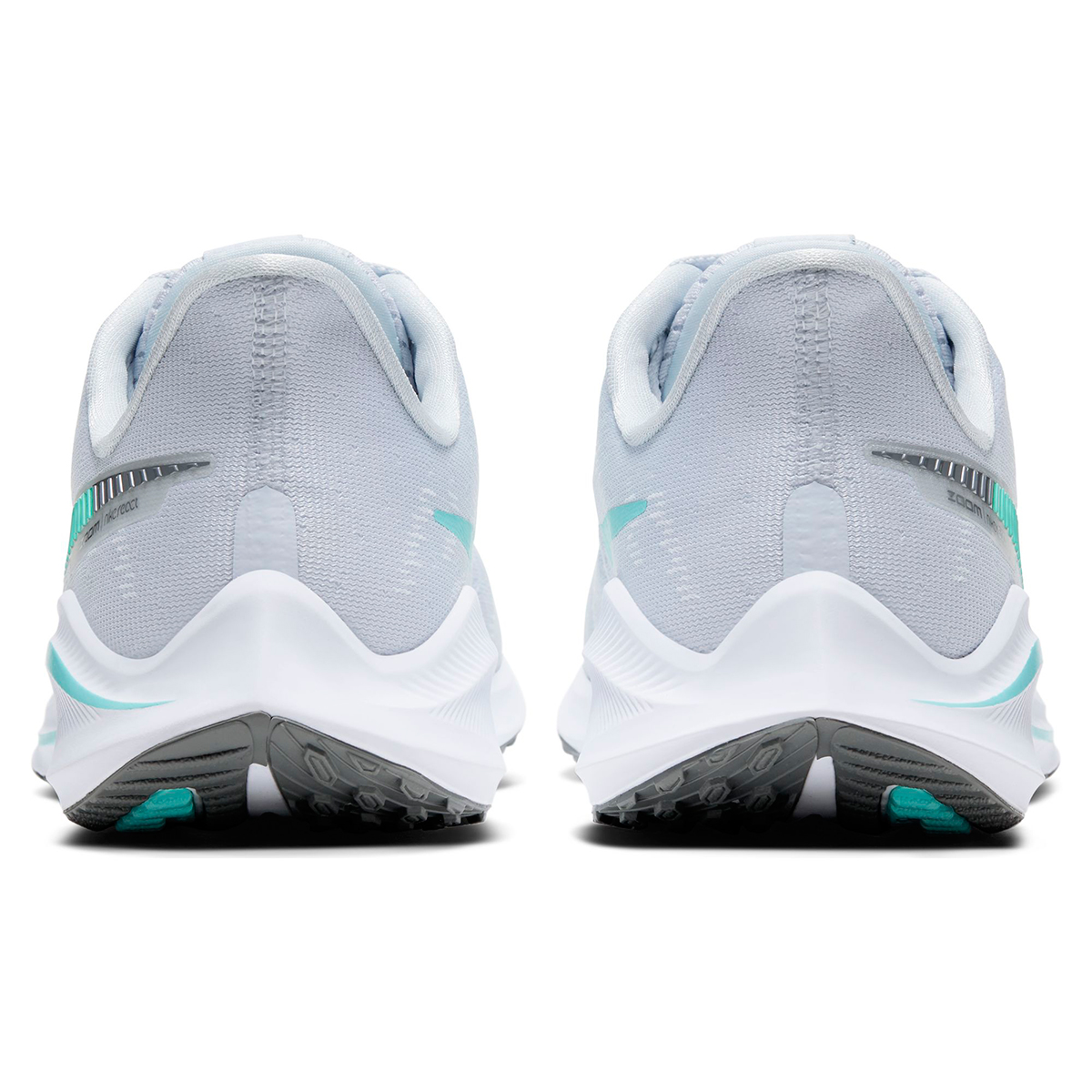 Women's Nike Air Zoom Vomero 14 Running Shoe - Color: Football Grey/White/Cool (Regular Width) - Size: 5, Football Grey/White/Cool, large, image 3