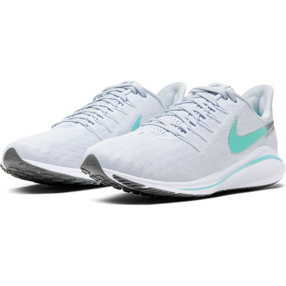 Women's Nike Air Zoom Vomero 14 Running Shoe - Color: Football Grey/White/Cool (Regular Width) - Size: 5, Football Grey/White/Cool, large, image 4