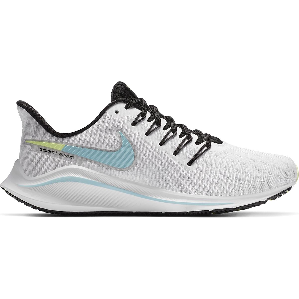 Women's Nike Vomero 14 Running Shoe - Color: White/Glacier Ice-Black-Pure Platinum - Size: 5 - Width: Regular, White/Glacier Ice-Black-Pure Platinum, large, image 1