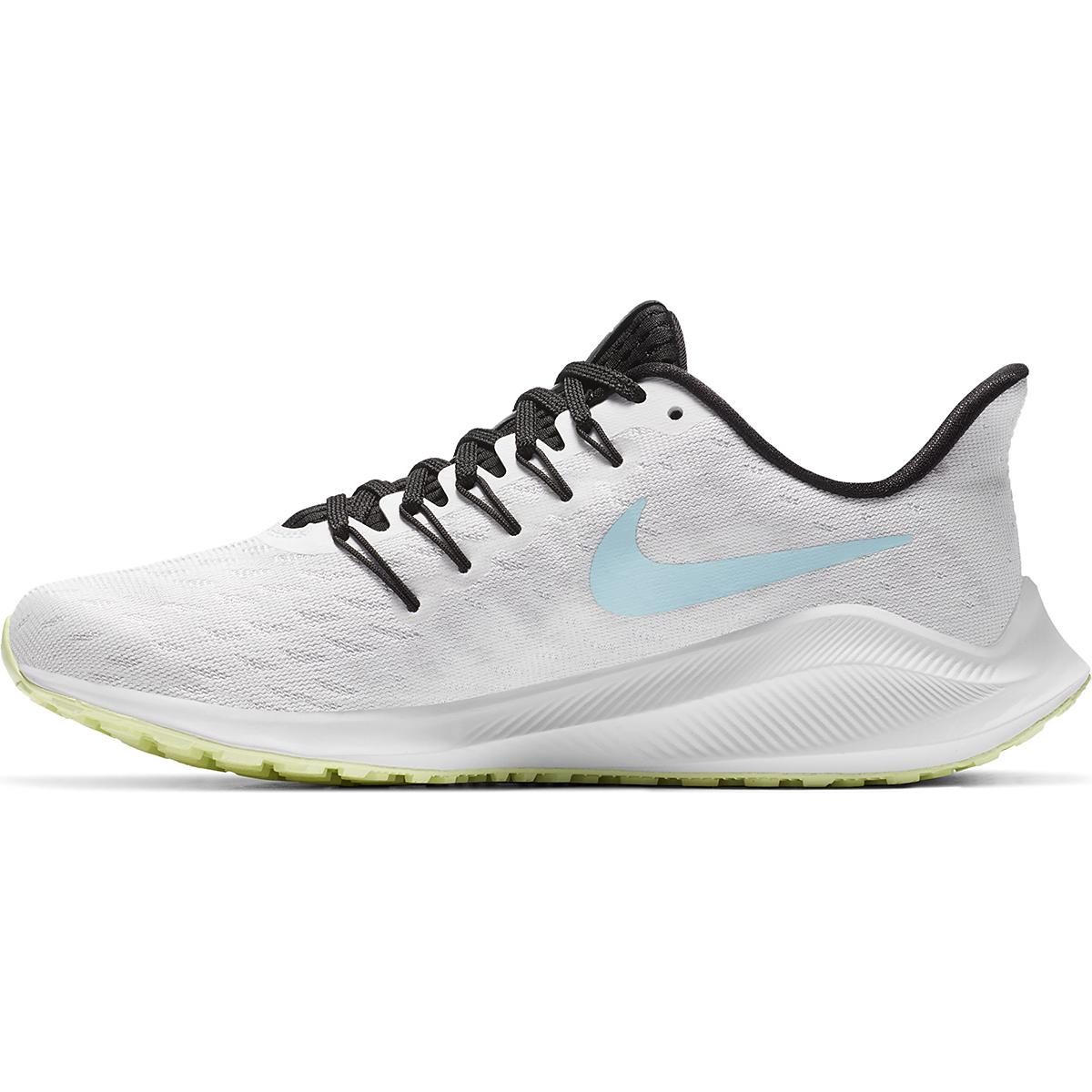 Women's Nike Vomero 14 Running Shoe - Color: White/Glacier Ice-Black-Pure Platinum - Size: 5 - Width: Regular, White/Glacier Ice-Black-Pure Platinum, large, image 2