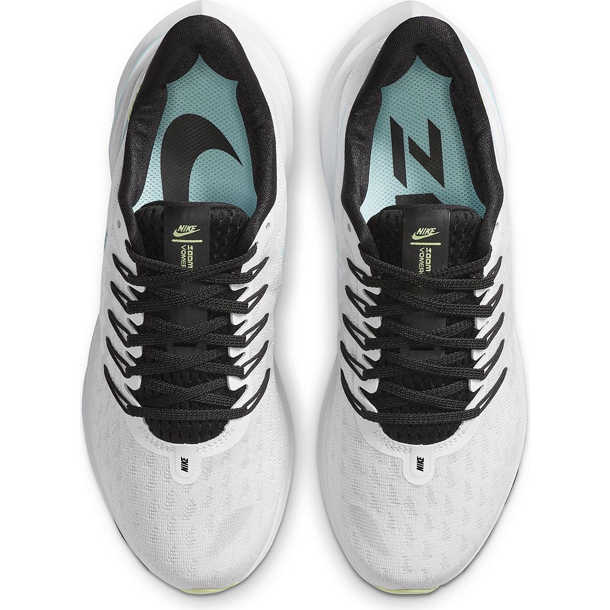 Women's Nike Vomero 14 Running Shoe - Color: White/Glacier Ice-Black-Pure Platinum - Size: 5 - Width: Regular, White/Glacier Ice-Black-Pure Platinum, large, image 4