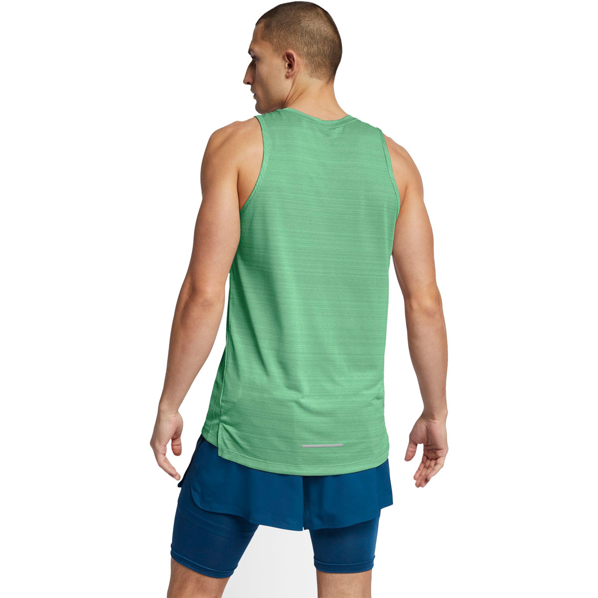 Men's Nike Dri-FIT Miler Running Tank - Color: Vapor Green/Htr/Reflective Silver - Size: S, Vapor Green/Heather/Reflective Silver, large, image 2